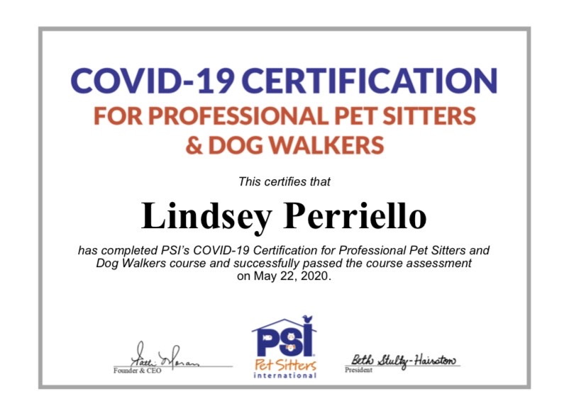 Discount for healthcare and first responders on all dog walking and pet sitting services